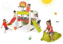 Set hrací centrum Fun Center Smoby se skluzavkou a zelená houpačka Kocour od 24 měsíců