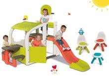 Hracie centrá - Set hracie centrum Fun Center Smoby so šmykľavkou dlhou 150 cm a Piknik stolík s dvoma stoličkami KidChair Red od 24 mes_33