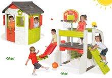 Hracie centrá - Set hracie centrum Fun Center Smoby so šmykľavkou dlhou 150 cm a domček Jura Lodge od 24 mes_35