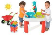 Detský záhradný nábytok sety - Set stôl Voda&Piesok 2v1 Smoby a fúrik s vedro setom od 18 mes_13