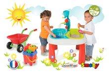 Detský záhradný nábytok sety - Set stôl Voda&Piesok 2v1 Smoby a fúrik s vedro setom od 18 mes_14