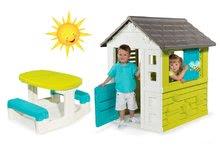 Set domček pre deti Pretty Blue Smoby a piknikový stôl od 2 rokov