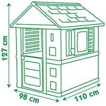 Domčeky pre deti - Domček Nature Smoby s UV filtrom bielo-zelený od 24 mes_4