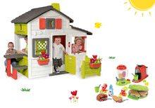Szett házikó Barátok Smoby kiskerttel+gofrisütő turmixgéppel, kávéfőzővel és gofrikkal és 28 kiegészítővel SM310209-31