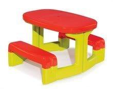 Gyerek asztal Piknik Smoby rakodótérrel 2 éves kortól zöld-piros