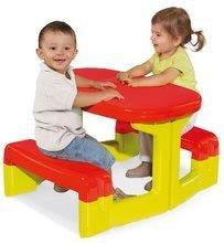 Detský záhradný nábytok - Stôl Piknik Smoby s úložným priestorom zeleno-červený od 24 mes_1