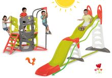 Set tobogan Toboggan Super Megagliss 2in1 Smoby și cățărătoare Multi-Activity Tower