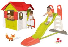 Šmykľavky s domčekom - Set šmykľavka Toboggan XL Smoby s vodou dĺžka 230 cm a domček My House s 2 dvierkami_32