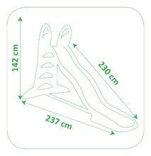 Šmykľavky sety - Set šmykľavka Toboggan XL Smoby s vodou dĺžka 230 cm a automatický semafor, dopravné značky a cestné kužele_9