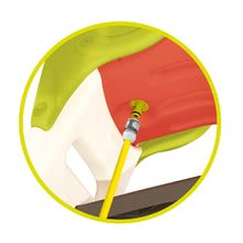 Skluzavky sety - Set 2 skluzavky střední Toboggan KS Smoby 150 cm s vodotryskem červená a tyrkysová od 2 let_9