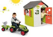 Domčeky sety - Set domček Jura Lodge Smoby s dvoma dverami a traktor Claas Farmer XL s prívesom_24