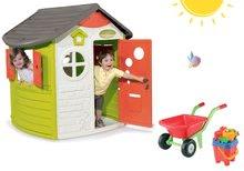 Domčeky pre deti - Set domček Neo Jura Lodge Smoby a fúrik s vedro setom od 24 mes_23