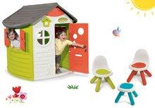 Domčeky s nábytkom - Set domček Neo Jura Lodge Smoby s dvoma dverami a piknik stolík s dvoma stoličkami KidChair Red_41