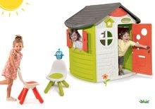 Set domeček Jura Lodge Smoby se dvěma dveřmi a 2 židličky Kid Chair