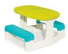Detský stôl Piknik Smoby s úložným priestorom od 2 rokov modro-zelený