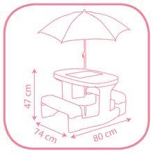 Detský záhradný nábytok sety - Set stôl Minnie Piknik Smoby a šmykľavka Minnie Toboggan XS s vedro setom Daisy od 24 mes_5