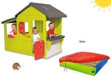 Set domček pre deti Maison Neo Floralie Smoby a pieskovisko s krycou plachtou