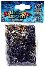 Elastice originale medievale Finger Loom Rainbow Loom 600 bucăţi albastru/auriu de la 6 ani