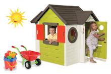Domčeky s náradím - Set domček My Neo House DeLuxe Smoby so zvončekom a zadným vchodom, fúrik s vedierkom_29