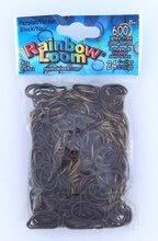 Elastice originale medievale Finger Loom Rainbow Loom 600 bucăţi negru/auriu de la 6 ani
