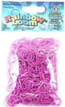 Elastice originale medievale Finger Loom Rainbow Loom 600 bucăţi roz de la 6 ani