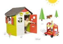 Smoby 310263-16 set domček Jura Lodge s dvoma dverami a vozík so zmrzlinou a hamburgermi od 2 rokov