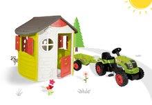 Smoby 310263-17 set domček Jura Lodge s dvoma dverami a traktor Claas GM s prívesom od 2 rokov