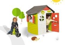 Smoby 310263-13 set domček Jura Lodge s dvoma dverami a odrážadlo motorka Racing Bike od 2 rokov