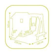 Căsuțe de grădină pentru copii  - Căsuță Winnie the Pooh cu leagăn Smoby și tobogan cu filtru UV de la 24 luni_5