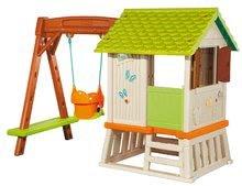 Căsuțe de grădină pentru copii  - Căsuță Winnie the Pooh cu leagăn Smoby și tobogan cu filtru UV de la 24 luni_1