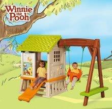Căsuțe de grădină pentru copii  - Căsuță Winnie the Pooh cu leagăn Smoby și tobogan cu filtru UV de la 24 luni_6