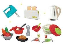 Set detský toaster Mini Tefal Smoby, ručný mixér Tefal, rýchlovarná kanvica Tefal a miska so zeleninou