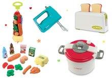 Set toaster Mini Tefal Smoby ruční mixér, tlakový hrnec a potraviny v síťce