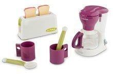 Hry na domácnosť - Set upratovací vozík s elektronickým vysávačom Vacuum Cleaner Smoby a čajová súprava s toasterom kávovarom a narodeninovou tortou_4