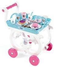 Detský servírovací vozík Frozen Smoby s čajovou súpravou a 18 doplnkami