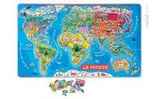 JANOD 05500 mágneses világtérkép MAGNETIC WORLD PUZZLE 92 állam mágnese 5-12 éves korig