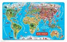 JANOD 05490 mágneses világtérkép MAGNETIC WORLD MAP GERMAN VERSION 92 állam mágnese 5-12 éves korig