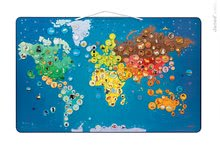 Mágneses világtérkép Animals Magnetic World Map Janod 5 éves kortól 201 mágnessel