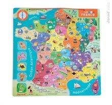 Magnetky pre deti - Magnetická mapa Francúzsko France Map Magnetic Janod 94 magnetov od 7 rokov_0