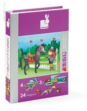 Magnetky pre deti - Magnetická kniha Horses and Riders Magneti'Book Janod 4 karty_0