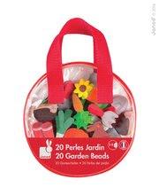 Drevené korálky pre deti - Drevené korálky Garden Beads Janod navliekačka 20 ks_0