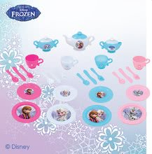 Riadíky a doplnky kuchynky - Čajová súprava Frozen Smoby veľká s 30 doplnkami trblietavá_2