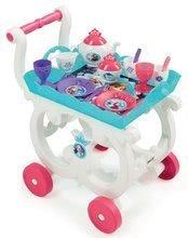Servírovací vozík s čajovou súpravou Frozen Disney Smoby s trblietkami a 17 doplnkov 35*31*48 cm SM310549
