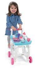 Kuchynky pre deti sety - Set kuchynka Frozen Smoby s trblietkam a čajová súprava na servírovacom vozíku_9