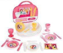 Set de veselă în valiză Disney Prinţese Smoby cu prăjituri 19 bucăţi