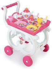 Servírovací vozík s čajovou súpravou Princezné Disney Smoby ružová s trblietkami 17 dielov 35*31*48 cm SM310555