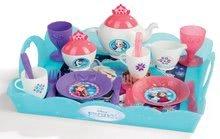 Tavă pentru servit ceaiul de la ora 5 Frozen Disney Smoby cu sclipici şi cu 17 accesorii