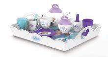 Kuchynky pre deti sety - Set kuchynka Frozen Smoby s trblietkami a čajová súprava Frozen na tácke_9