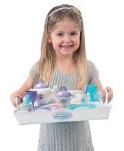 Kuchynky pre deti sety - Set kuchynka Frozen Smoby s trblietkami a čajová súprava Frozen na tácke_7
