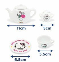 Kozmetične mizice kompleti - Komplet kozmetična mizica s stolčkom Hello Kitty Smoby s porcelanastim čajnom setom_5